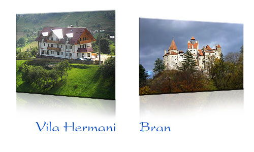 Villa Hermani in Magura and Bran castle
